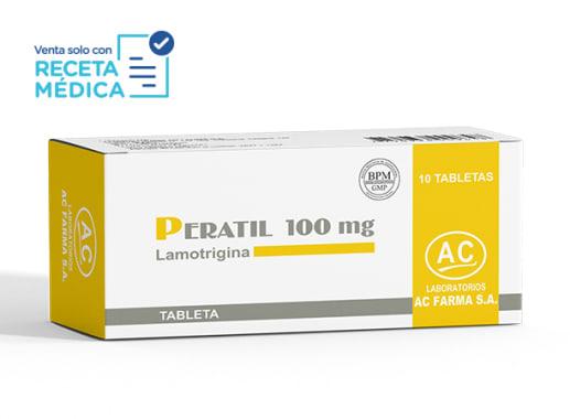 PERATIL 100 mg  - LAMOTRIGINA (Caja x 10 Tabletas)