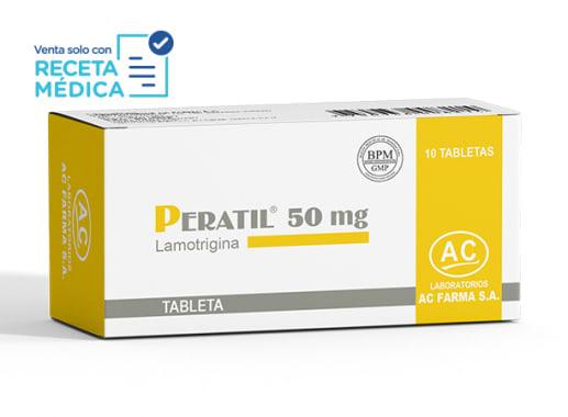 PERATIL 50 mg - LAMOTRIGINA (Caja x 10 Tabletas)