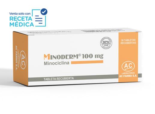 MINODERM 100 mg - MINOCICLINA (Caja x 30 Tabletas)
