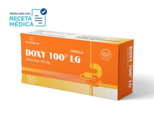 DOXY 100 LG 100 mg - DOXICICLINA (Caja x 10 Cápsulas)