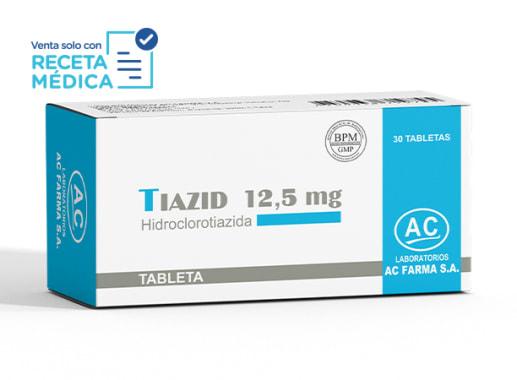 TIAZID 12,5 mg - HIDROCLOROTIAZIDA (Caja x 30 Tabletas)