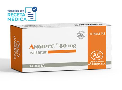 ANGIPEC 80 mg - VALSARTAN  (Caja x 30 Tabletas)