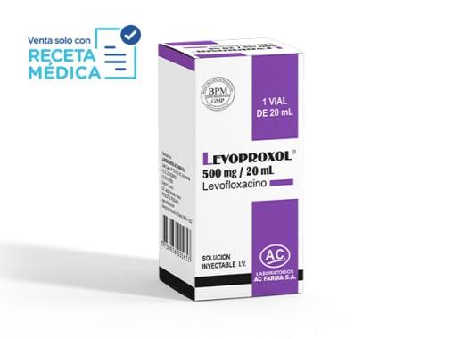 LEVOPROXOL 500 mg/20 mL SOL INY - LEVOFLOXACINO  (Caja x 01 Dosis)