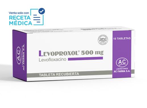 LEVOPROXOL 500 mg - LEVOFLOXACINO (Caja x 10 Tabletas)