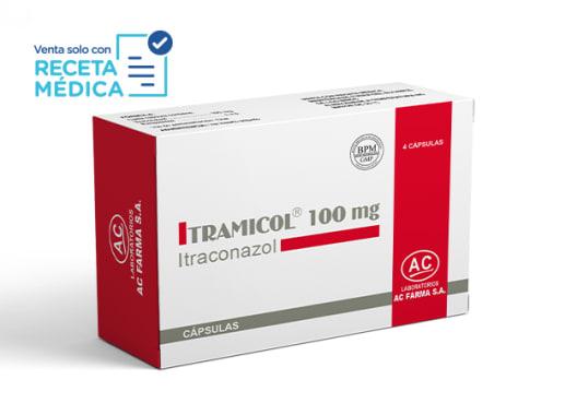 ITRAMICOL 100 mg - ITRACONAZOL (Caja x 04 Cápsulas)