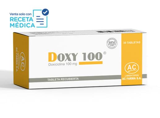 DOXY 100 100 mg - DOXICICLINA (Caja x 30 Tabletas)