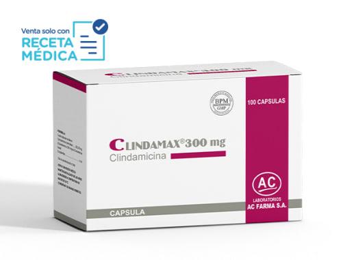 CLINDAMAX 300 MG - CLINDAMICINA (Caja x 100 Cápsulas)