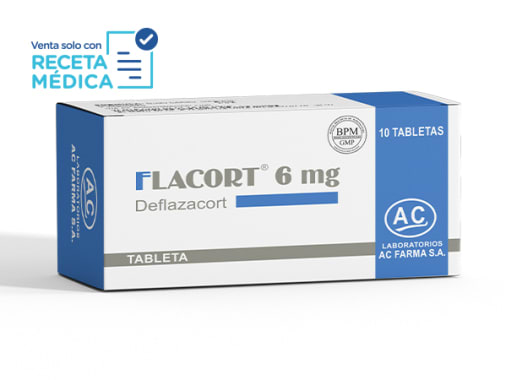 FLACORT 6 mg - DEFLAZACORT (Caja x 10 Tabletas)