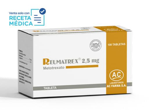 REUMATREX 2,5 mg - METOTREXATO (Caja x 100 Tabletas)