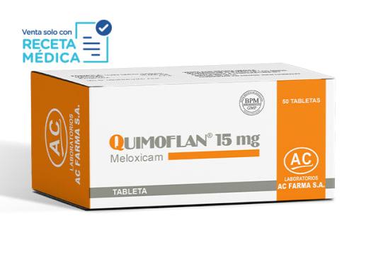 QUIMOFLAN 15 mg - MELOXICAM (Caja x 50 Tabletas)