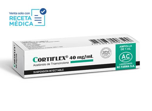 CORTIFLEX 40 mg/mL SUSPENSION INYECTABLE - TRIAMCINOLONA ( Caja x 01 Dosis)