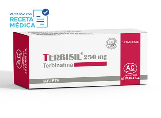 TERBISIL 250 mg - TERBINAFINA (Caja x 10 Tabletas)