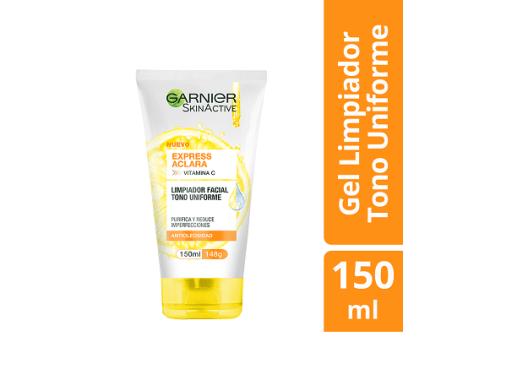 Gel limpiador facial Express aclara Garnier SkinActive