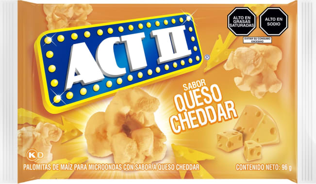 Act II Canchita para microondas Queso Cheddar