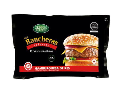 HAMBURGUESA DE RES SUPER RANCHERA
