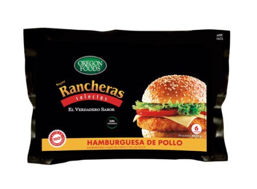 HAMBURGUESA DE POLLO SUPER RANCHERA