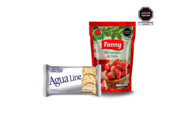 MERMELADA FANNY 800 Gr + AGUA LINE DE REGALO