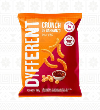 CRUNCH DE GARBANZO BBQ 150G DYFFERENT