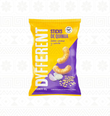 STICKS DE QUINUA CREMA Y CEBOLLA 30G DYFFERENT