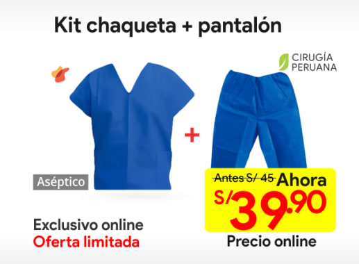 Kit Chaqueta + Pantalon Descartable Talla L
