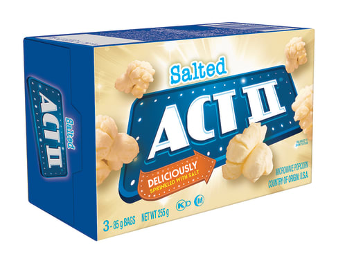 Act II Canchita para microondas 3PK Natural
