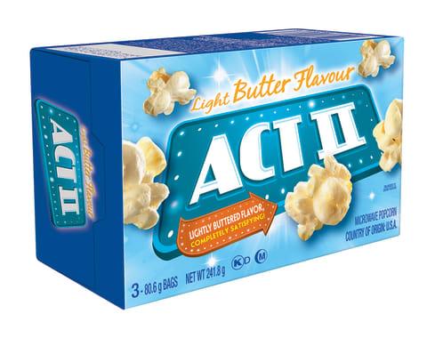 Act II Canchita para microondas 3PK Mantequilla Lite