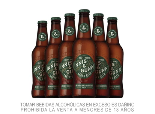 Six Pack Cerveza Innis Lager 330 ml