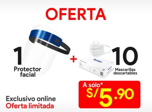 Protector Facial + Mascarilla Descartable