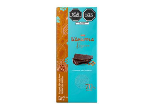 Chocolate 70% cacao con caramelo y sal de Maras  - D´Onofrio Reserva