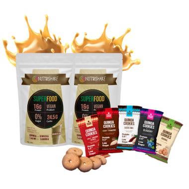 2 Proteína Vegana Vainilla + 5 Quinoa Cookies
