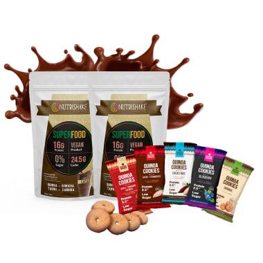 2 Proteína Vegana Cacao + 5 Quinoa Cookies