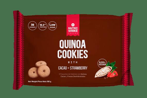 Galleta con Quinua, Cacao & Fresa - Snack Nutrishake Andino