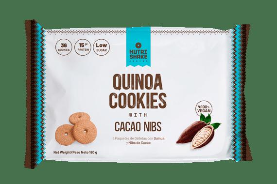 Galleta con Quinua & Cacao Nibs - Snack Nutrishake Andino