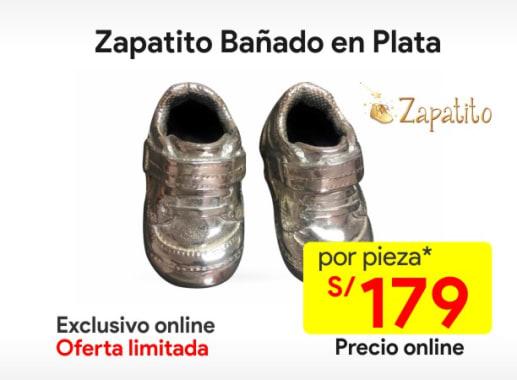 Zapatitobañado en Plata