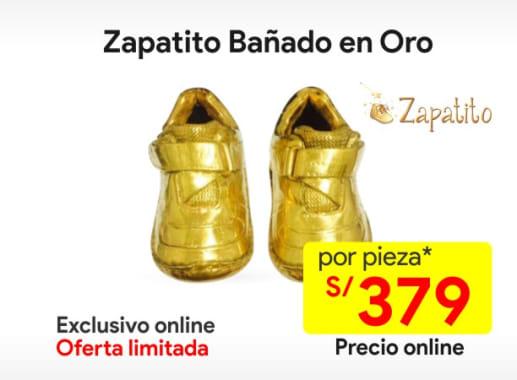Zapatitobañado en Oro