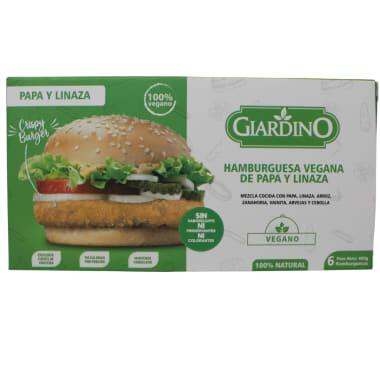 Hamburguesa Vegana de papa y linazas Giardino