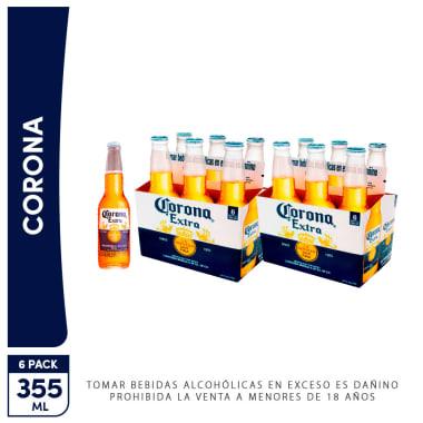 2 Sixpacks - Cerveza Corona Extra 355ml