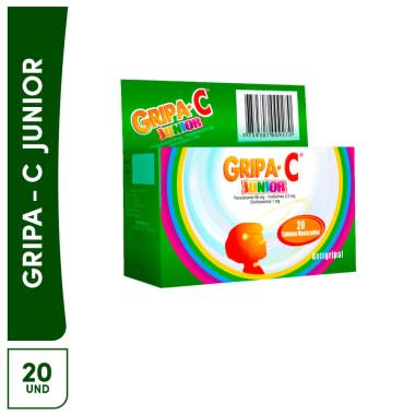 Gripa C Junior 20 tabletas