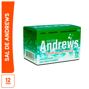 Sal de Andrews 5g 12 sobres