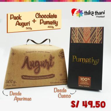 PACK AUGURI + CHOCOLATE PUMATIY