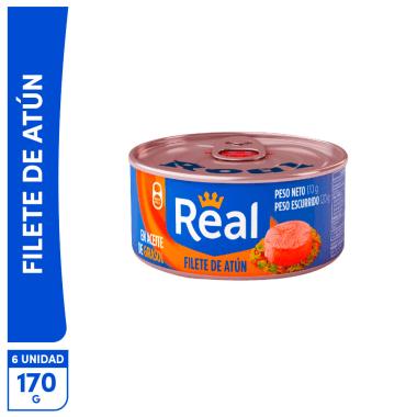 Promo Filete de Atún Real en aceite Girasol 170g