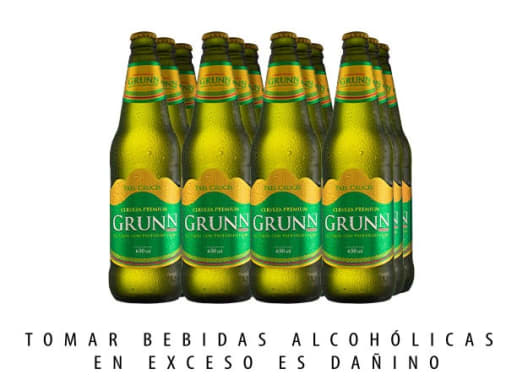 CERVEZA GRUNN 650ML 12 (NO RETORNABLE)