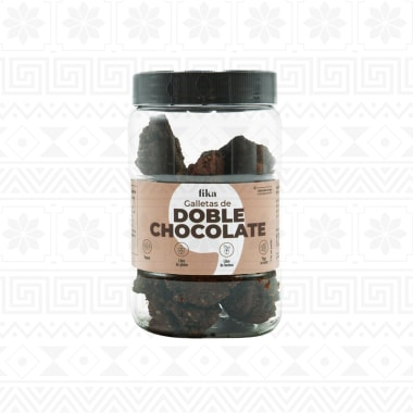 GALLETAS DE DOBLE CHOCOLATE FRASCO 125 g FIKA