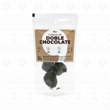 GALLETAS DE DOBLE CHOCOLATE DOYPACK 50 g FIKA