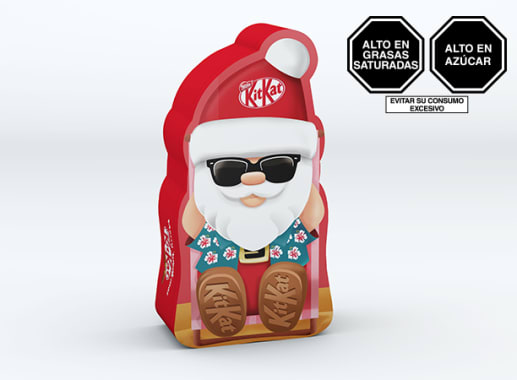 Kit Kat Chocolate Con Leche Papa Noel Lata 4 x 29gr