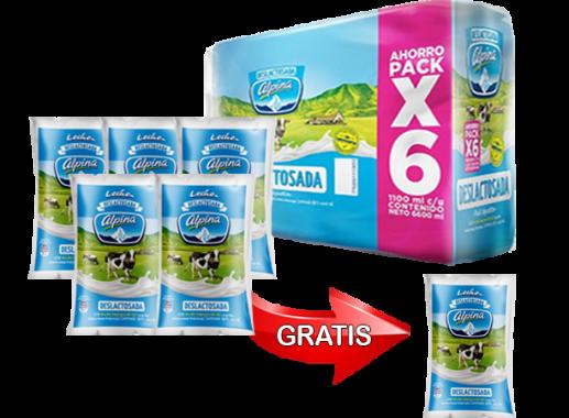 Promoción Pague 11 Lleve 12 Leche Deslactosada Bolsa 1,100ml