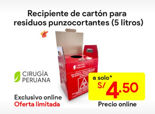 Caja de cartón para desechos hospitalarios 5 litros
