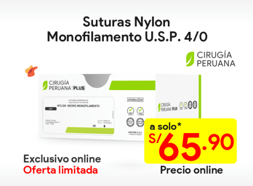 Sutura Nylon no absorbible 4/0