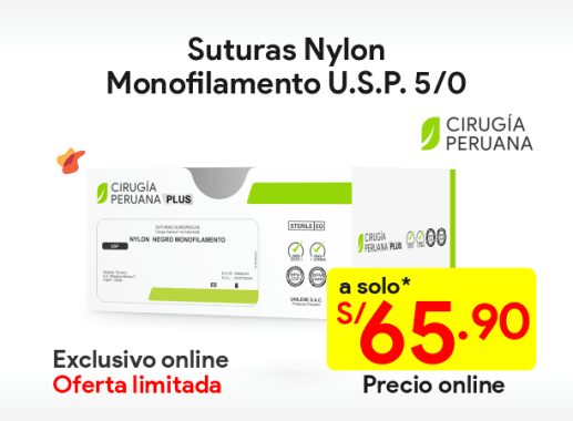 Sutura Nylon no absorbible 5/0