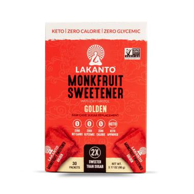 LAKANTO GOLDEN MONKFRUIT SWEETENER X 120 PACKETS 360GR